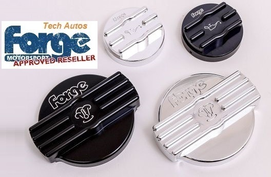 Forge Motorsport FMCAPS4 Black Alloy Oil & Water Cap Covers Audi S3 2 0  TFSI TB (8V)